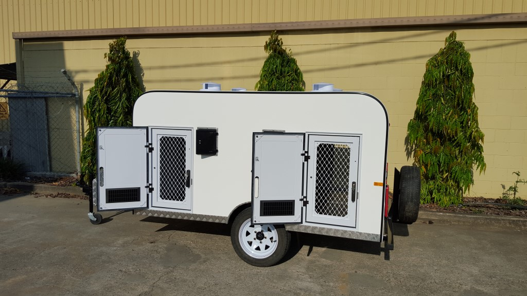 Four Berth Fibreglass Dog Trailer 4